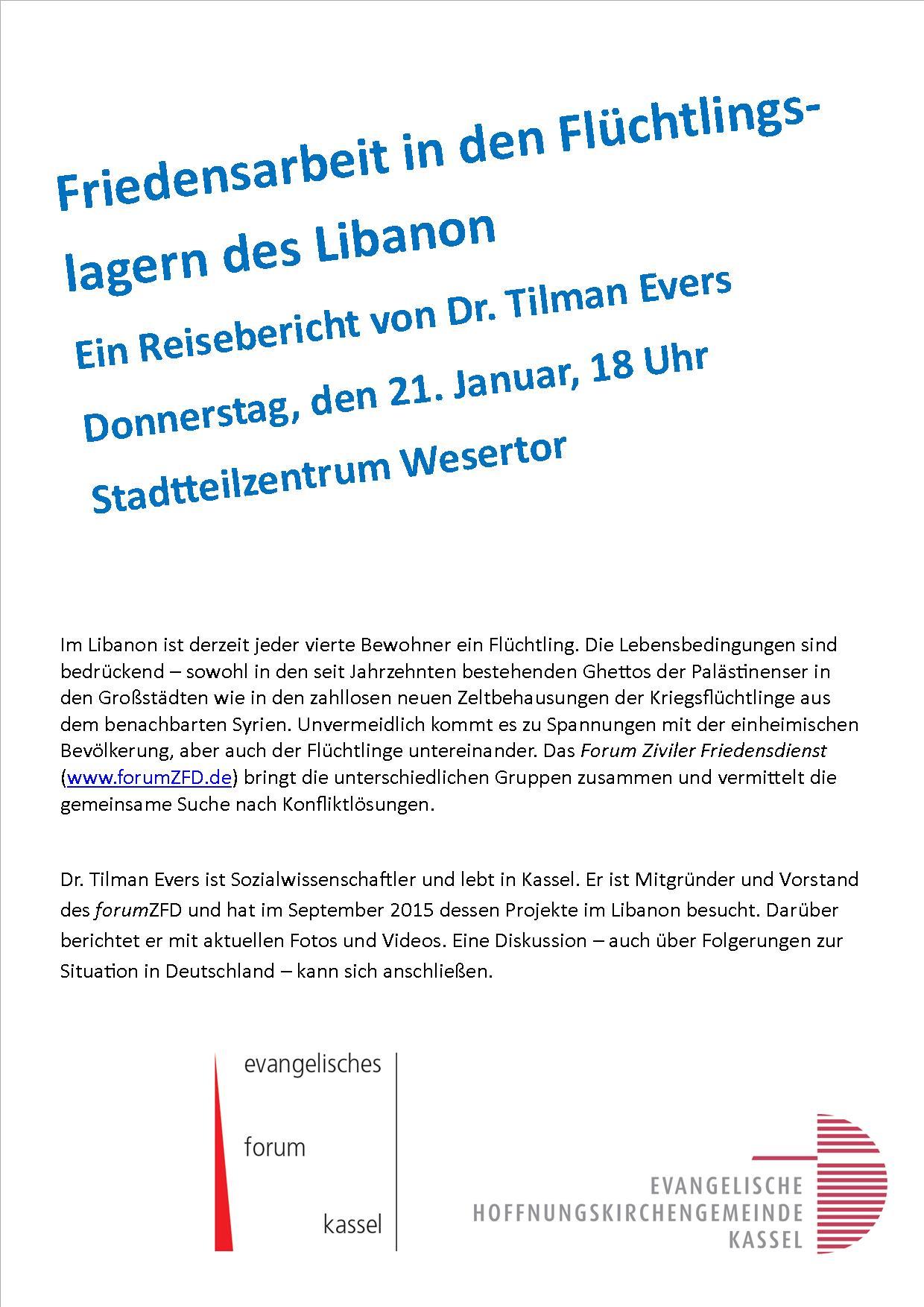 Vortrag Tilman Evers Januar 16